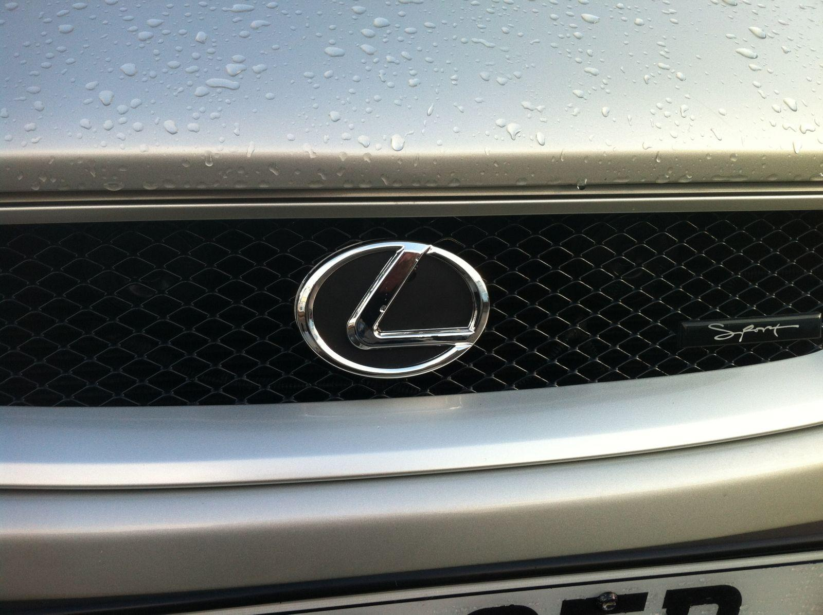 Badge after being fitted