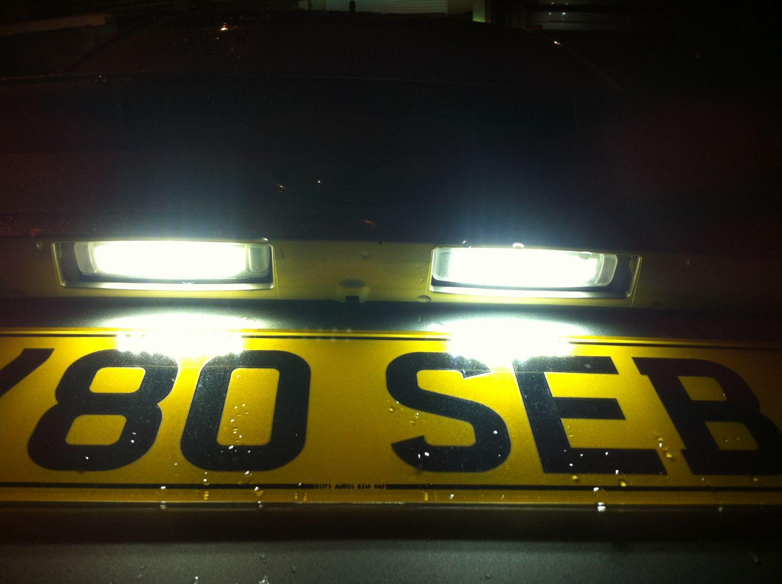 New LED rear number plate light conversion