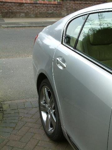 showing taper of rear quarter - looks good in metal