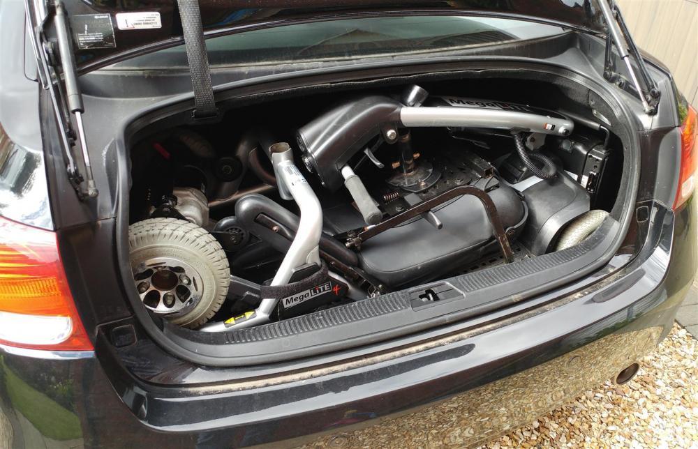 Arthers scooter in Lexus boot.jpg