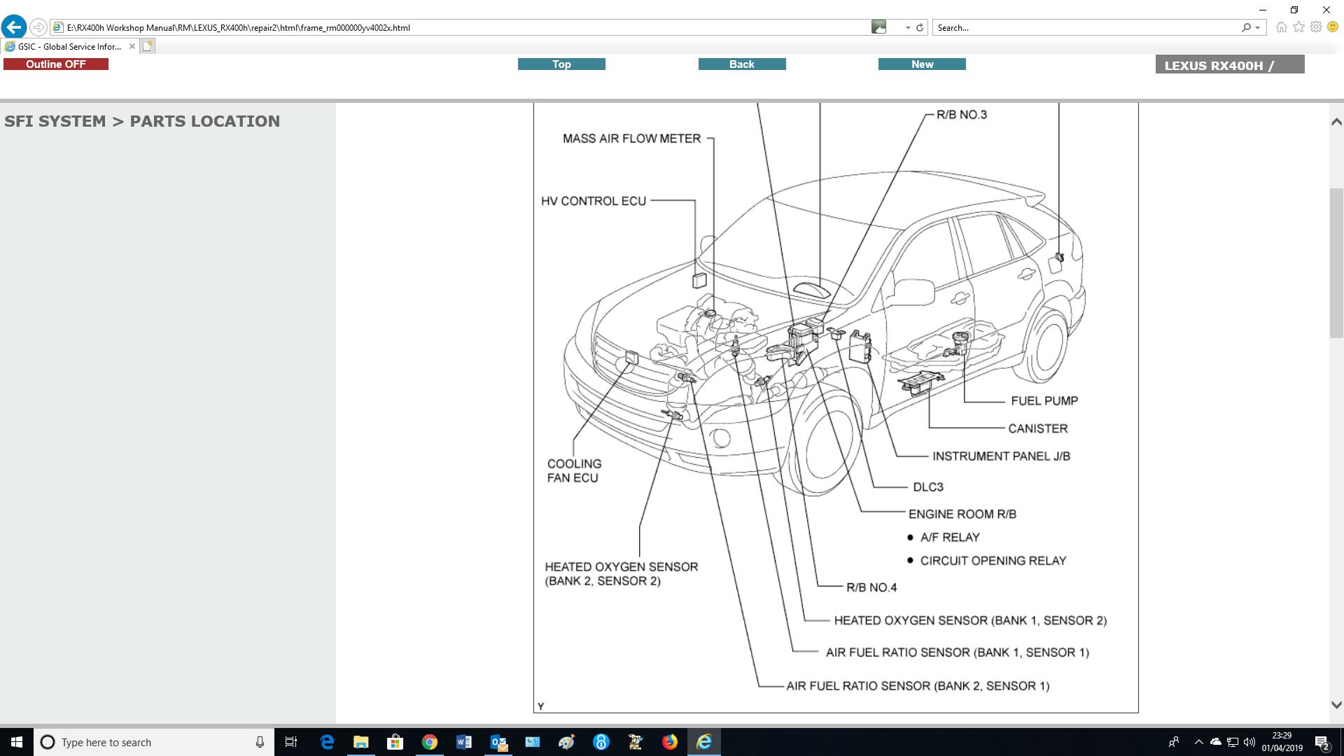 Lexus Rx300 Oxygen Sensor Bank 2 Sensor 1 ✓ Lexus Car